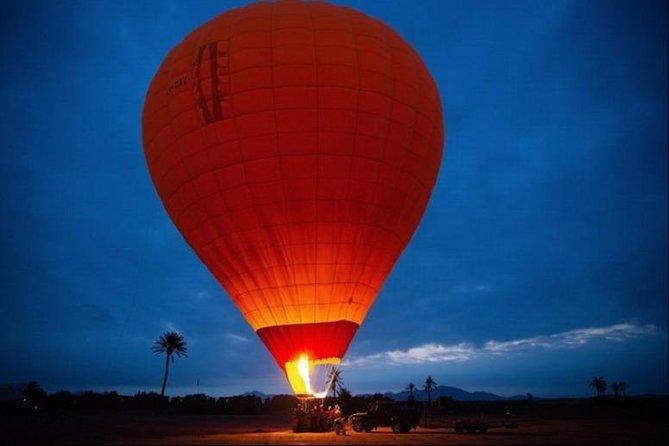 Hot air balloon : sunrise over the Atlas mountains