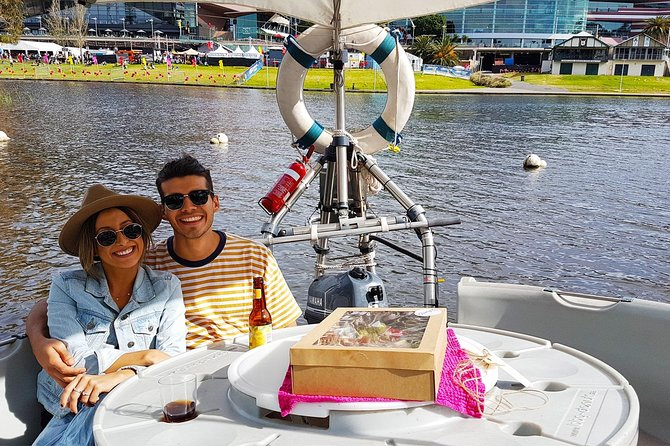 Adelaide 2-hour BBQ Boat Hire for 2 People + Wine and Cheese Grazer