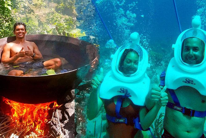 Boracay Island Hopping with Lunch and Hot Kawa Bath + Helmet Diving photo 1