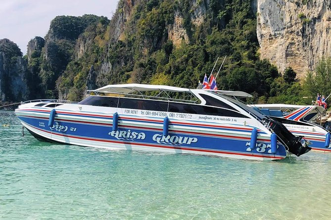 Superfast Transfer from Koh Phi Phi to Railay Beach by Arisa Speed Boat