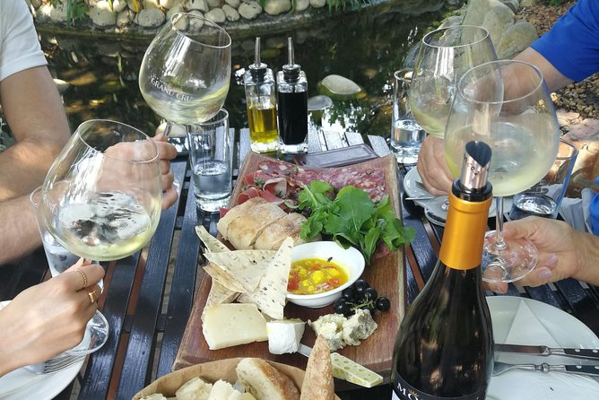 On the Non-Guide Vineyard Hopper you get to select from 27 wineries and 3 craft breweries in Franschhoek. We collect you from your accommodation in Franschhoek.