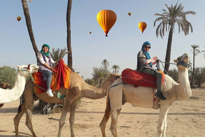 hot air balloon with Berber breakfast and camel ride experience