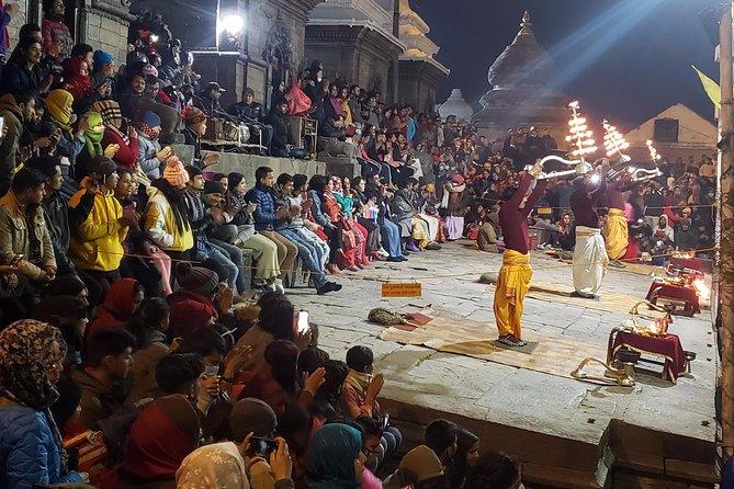 Evening Aarati Pooja Pashupatinath Temple Kathmandu