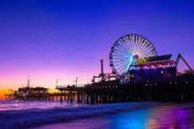 Santa Monica Sunset and Griffith Observatory Night View Award Sedan Private Charter 6 Hours Japanese Limousine Driver (1-3 people)
