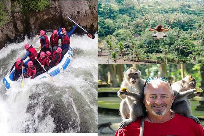 Tour Activities:Swing Bali Ayung River Rafting&Sangeh Monkey Forest