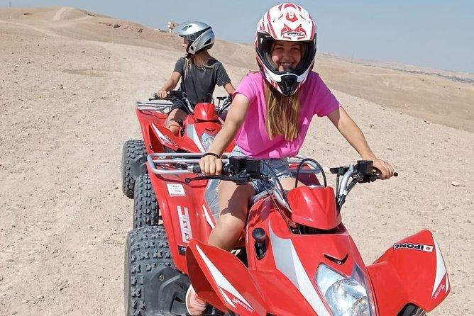 quad adventure in agafay desert