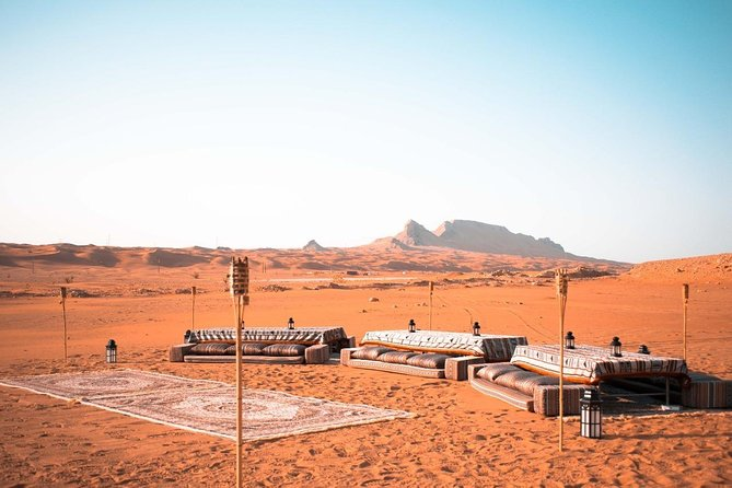 Mleiha Desert Safari - The Sunset Lounge with transfers from Dubai