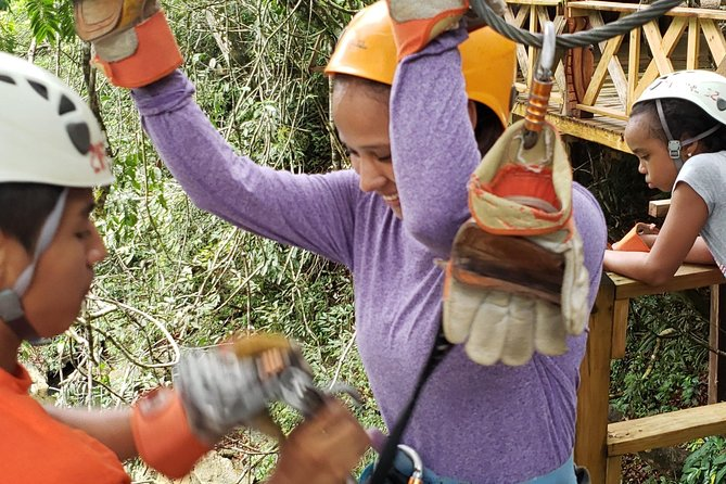 """Zip Lining at Nohoch Che""""en Caves Branch"""