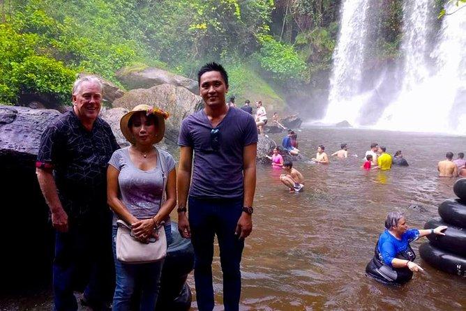 Phnom Kulen Tour,Waterfalls,1000 Linga River,Reclining Buddha and Tonle Sap Lake