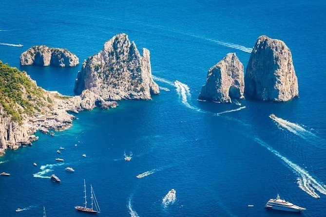 Capri Island from Sorrento. Boat excursions with lunch
