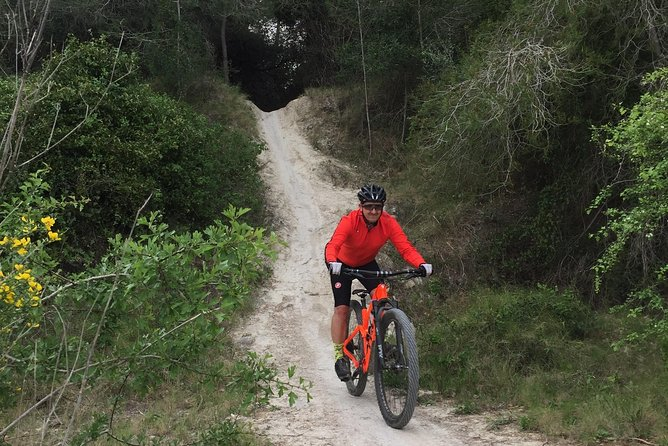 Guided mountain bike route -