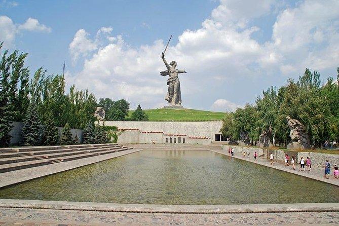 Square of Fallen Heroes at memorial complex To The Heroes of The Battle of Stalingrad at Mamayev Kurgan memorial complex, City of Volgograd
