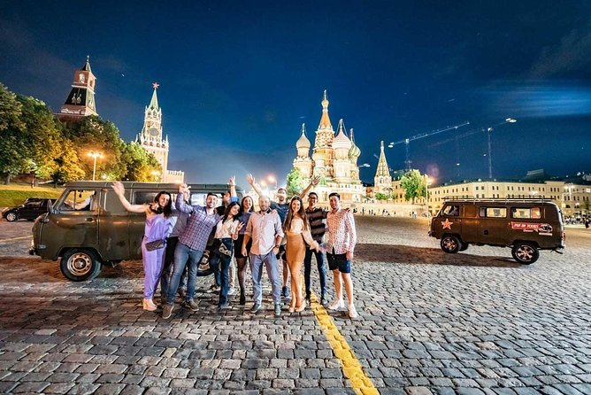Panoramic Private Tour of Evening Moscow in a Soviet minivan photo 1