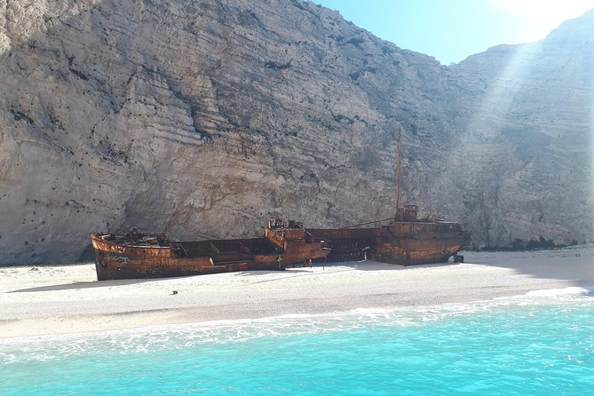 Small Group Tour Shipwreck Beach & Blue Caves (Land & Sea)