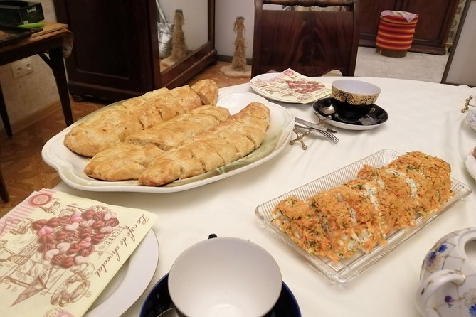 Borscht and cabbage pie cooking class and dinner for small private groups
