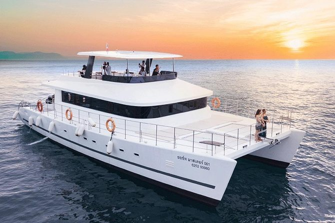 Krabi's Coastline Luxury Sunset Cruise with Power Catamaran