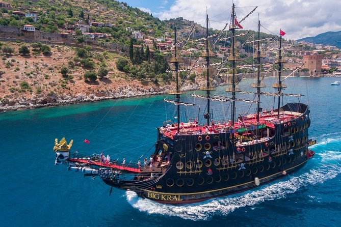 from Belek: Alanya Pirates Boat Tour by Big Kral