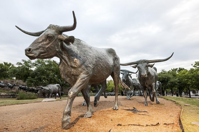 Pioneer Plaza is second only to Dealey Plaza as the most-visited landmark in downtown Dallas. It commemorates Dallas's beginnings by celebrating the trails that brought settlers to the city.