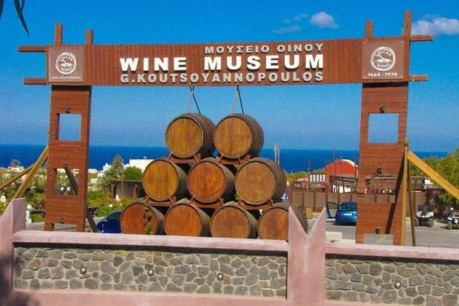 Wine Tour in Santorini with private guide, wine museum and tasting