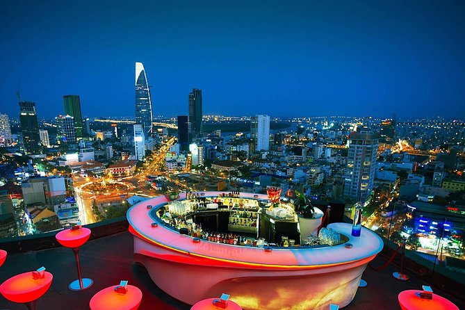 Relaxing Night with Rooftop Bar and Saigon Dinner on Cruise