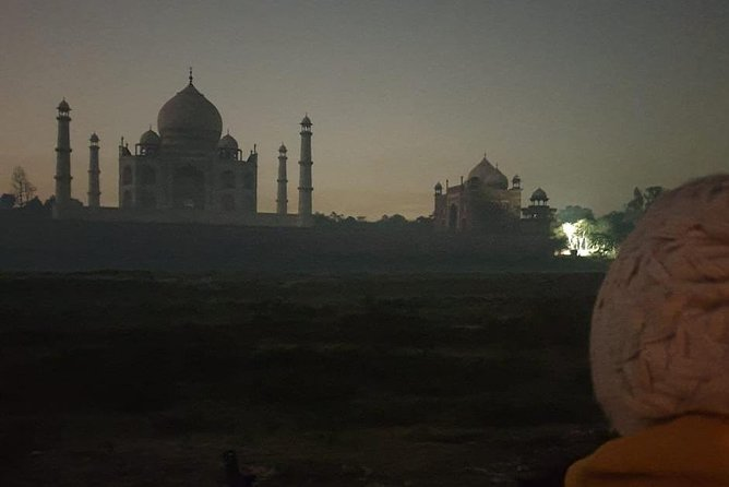 Taj Mahal at full moon night --Taj View Point-- Mehtab Bagh