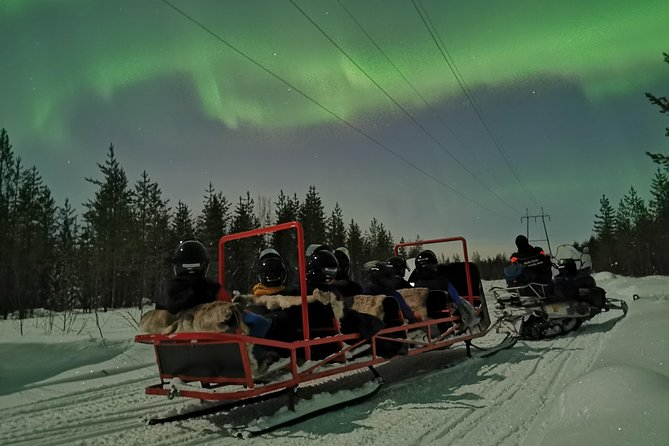 Northern Lights Sledge Ride By Snowmobile