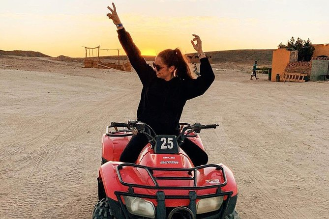 Safari 3 Hour Quad in Arabian Desert and Visit Bedouin Village
