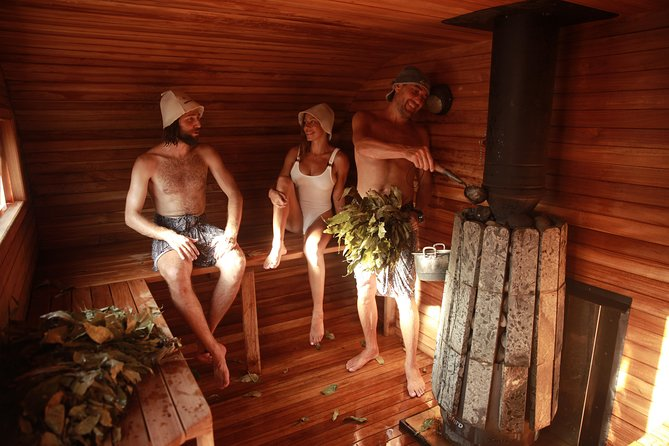 Luxury SPA Relax therapy in a hot sauna with high-quality wooden bath