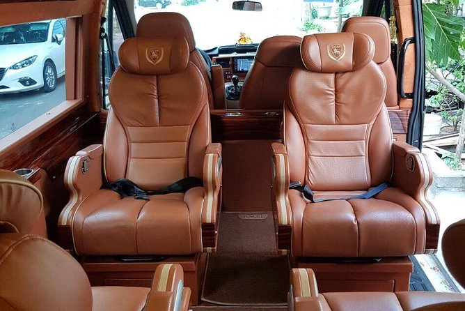 SGN Airport pick up by Ford Transit Luxury Van (Dcar Limousine)