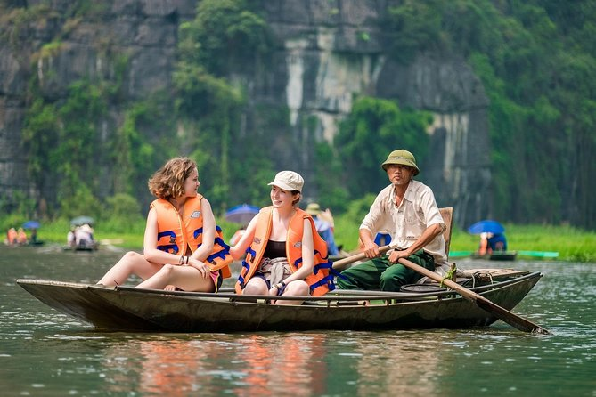 Deluxe Hoa Lu Trang An Mua Cave Small Group Tour- Boating,Hiking, Cave Exploring