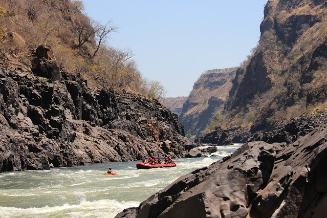Swimming below the falls from Victoria Falls, Zimbabwe. photo 2
