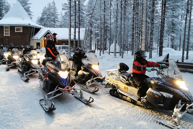 Snowmobiling to Reindeer and Husky Farm