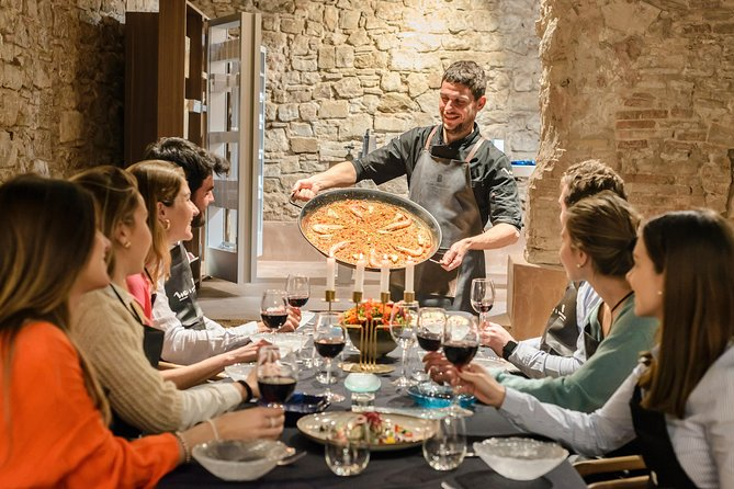 Barcelona Markets Food Tour, Paella & Tapas Workshop with Unlimited Drinks