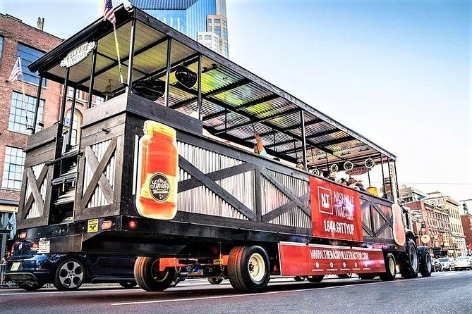 Nashville Public Tractor & Moonshine Tour with Music, Dance Floor, and Bar