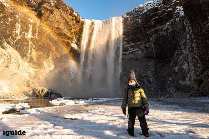 2 Day South Coast Winter Tour | Blue Ice Cave, Black Beach & Waterfalls