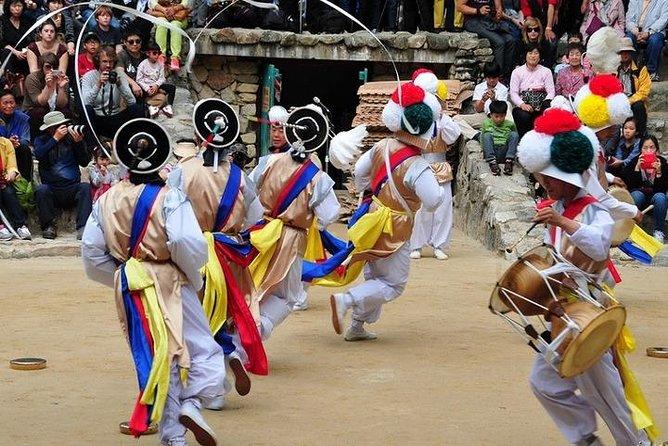 Seoul city and Korea folk village