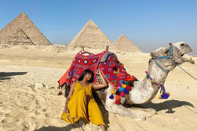 5 Hour Half-Day Tour to Giza Pyramids Sphinx Camel Ride Included