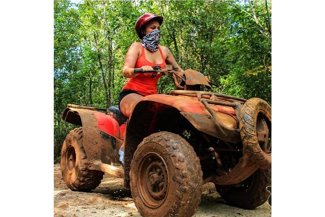 ATV (shared) Zip Line & Cenote from Cancun