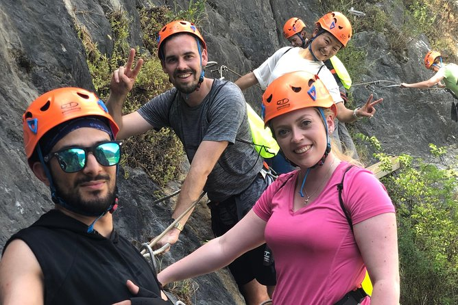 One Day Summer Ice Caves and Via-ferrata Rock Climbing Guided Tour from Hangzhou