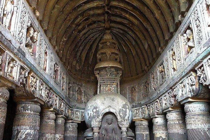 Day tour of Ajanta and Ellora caves from Aurangabad