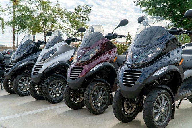 Modern Piaggio MP3 Luxury Scooter Rentals