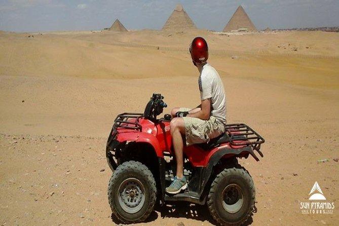 Day Tour Desert Safari by Quad Bike Around Pyramids enjoying Sunset or Sunrise