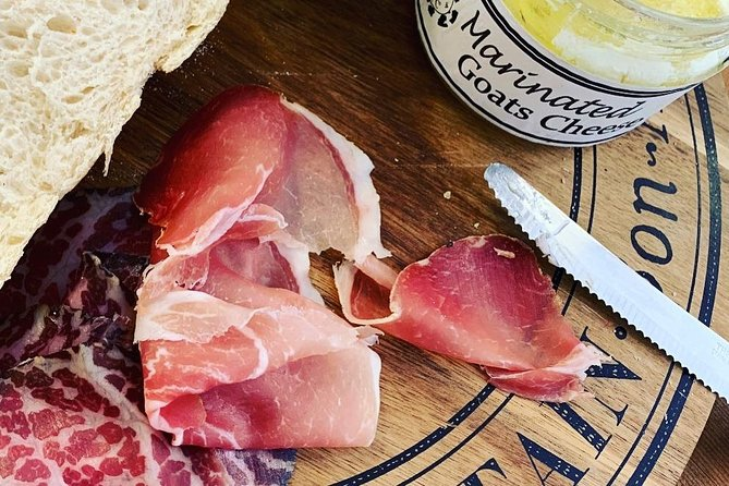 Add Antipasti meats, dips, olives or anchovies to your tasting.