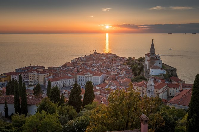 Sunset in Piran – Breathtaking Sunset in the Most Romantic City in Slovenia