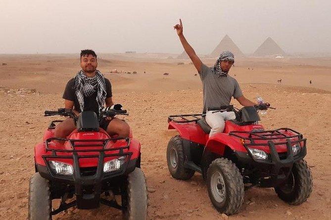 Private Tour -Giza Pyramids,Camel,Egyptian Museum,Four Wheeler ( ATV ) – Lunch