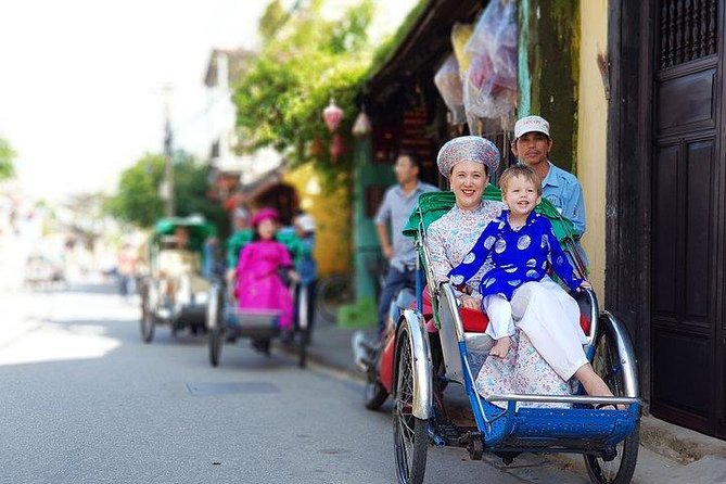 Hoi An Cyclo Tour In Vietnam Traditional Ao Dai