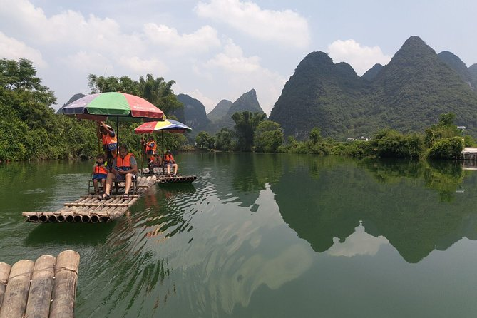 Full-Day Li-River with the 4 Star Luxury Boat VIP Room & Yulong bamboo boat Tour