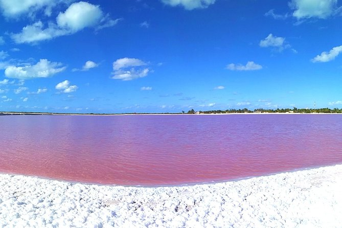 Chichen Itza, the Pink lagoon and Pink flamingos