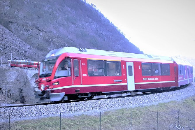 St Moritz and Bernina express. Departure from Milan