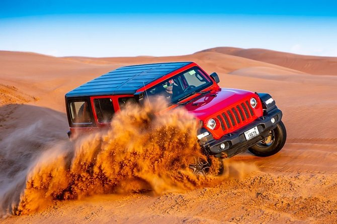 Desert Safari with BBQ Dinner, live shows and Camel ride (4X4 Pick up)